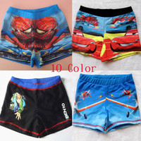 Cheap 2015 Car 2 McQueen Spider-Man Swim Trunks Baby Boys 10 Color Swimwear Kids Summer Beach Swim Trunks Children Surf Clothes DG-Y70