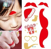 arm hats - Christmas series Temporary Tattoos body painting art waterproof Tattoo Stickers Water Transfer Temporary Tattoos Sticker Christmas hat