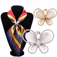 Wholesale Best Deal New Good Quality Tricyclic Gold Silver Butterfly Scarf Buckl Holder Scarf Clips Jewelry Gift PC