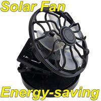 solar fan - New Portable Clip on Solar Fan Sun Power energy Panel Cooling energy saving
