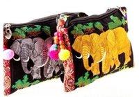 Wholesale ZJ National Wind embroidered flower Beads elephant Cross Body Messenger Bag cm