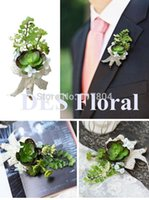 Wholesale 2015 New High simulation artificial flowers artificial flower corsage wedding party succulents Men Corsage