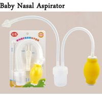 Wholesale New Born Baby Safety Nose Cleaner Vacuum Suction Nasal Aspirator Soft Tip anti reflux Nose Cleaner Baby Care Freeshipping