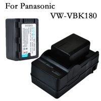 Wholesale 2x VW VBK180 VBK180 rechargeable Battery Camera Batteries Charger for Panasonic SDR T56 SDR H85 SDR T55 SDR S45 SDR S50