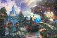 art dreams canvas print - Cinderella Wishes Upon A Dream Thomas Kinkade Oil Paintings Art Print On Canvas no frame NO