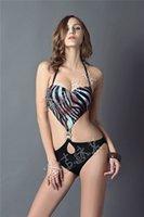 Wholesale 2015 trade new swimwear sexy lady zebra leopard hollow piece swimsuit bikini BIKINI