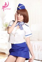 airline shirts - airline woman fashion sexy COSPLAY miniskirt dresss hat shirt bow tie Naughty Clubwear Maid Appeal clothing Uniform Sleepwear