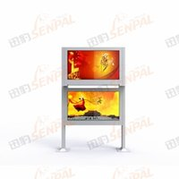 outdoor lcd advertising player - 1500nits inch outdoor All In One Touch Screen LCD Advertising Player