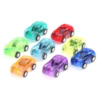 Wholesale New Baby Kids Cute toys Twist Forward Movement Clockwork Spring plastic Toy transparent mini pull back Car toy WJ0194