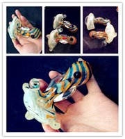 small wholesale lots - 10pcs SMOKING PIPES Stained glass pipe smoking tobacco pipe small bong Glass pipe long cm HJ0077a