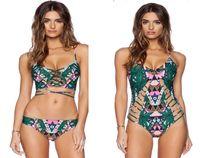 drop waist - 2016 New Arrival Women Swimwear Styles Indian Totem Printing Sexy Spaghetti Strap Bikini Or One piece Drop Shipping Hot Selling