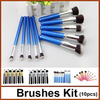 tool handle - brushes set professional makeup brushes set set makeup brush tools wood handle EB6004