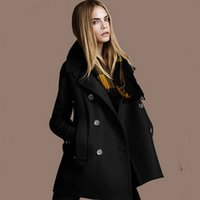 atmosphere coats - 2014 new winter woolen coat European style double breasted wool coat fashion atmosphere