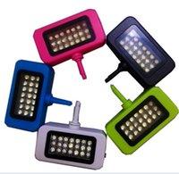 Wholesale Universal Mini Portable LED lights for Samsung iPhone Smartphone mini photography Studio Flash Light