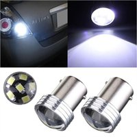 Wholesale 10pcs New White P21W LED SMD Projector Car Auto Light Source Backup Reverse Parking Lamp Bulb DC12V