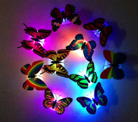 Wholesale New x Color Changing Beautiful Cute Butterfly LED Night Light Lamp Indoor Lighting