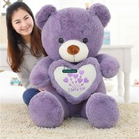 Wholesale Super Large Teddy Bear - Dorimytrader 47''   120cm Super Lovely Large Stuffed Soft Plush Giant Teddy Bear Toy, 3 Colors And Nice Baby Gift, Free Shipping DY60656