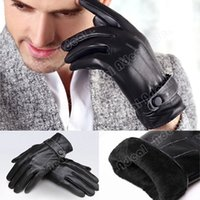 Wholesale Men Touch Screen Gloves Synthetic Leather Gloves Screen Touch Gloves For Iphone Ipad Mobile SV011475