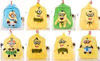 Wholesale 100pcs new arrive despicable me D backpack bag minions backpack school bag eyes soft plush doll Backpack D332