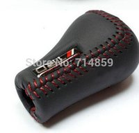Wholesale TRD Leather Manual Transmission Car Gear Stick Shift Shifter Lever Knob Cover for Toyota RED or BLACK Stitches