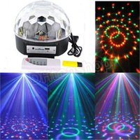 activate sound card - New arrival Voice activated RGB MP3 led Crystal Magic DJ Party Light Stage Light Crystal Ball Effect Light Support USB TF card Music Play