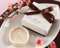 Wholesale Cherry Blossom Wedding Favor Boxes - European-style cherry blossom handmade soap Soap Craft Soap Flower Wedding Favor Gift with gift box free shipping