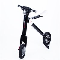 Wholesale 2015 New White Black Foldable Electric Scooter Smart K Bike V W Battery Operated Motorcycle Electric Scooter Folding Electric Bicycle