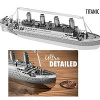 Wholesale Top Quality Metallic Steel For Nano Intelligence D Titanic Jigsaw Steamer Ship Puzzle Model No Glue Toy Gift Decoration TY1007