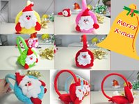 Wholesale Cute Boys Girls Winter Ear Muff Santa Claus Warm Earmuffs Warmers Protection Earcap Christmas Gift for Kids