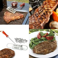 Wholesale BBQ Barbeque Branding Iron Tools Set Changeable Letters Meat Steak Burger DIY Barbecue With retail box