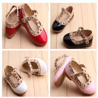 Wholesale HOT NEW Children s New girls sandals children rivets pu shoes colors casual sandals size