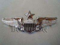 aviation art - light Empire American aviation intermediate qualification badge anodized bright silver