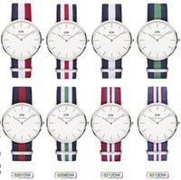 Wholesale 2015 men women Geneva Watches Nylon Strap Band Colck Quartz Watch Same Style For Daniel wellington watches DW watch Wristwatch Free DHL Ship