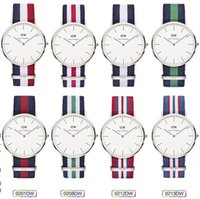 Wholesale DHL Daniel Wellington Watches DW Watch Men Women Geneva Watches Nylon Strap Band Colck Quartz Watch Unisex Watch mm Wristwatch Christmas