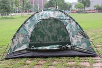 Wholesale 200 cm Camouflage Camping Tent Tents for Person Single Layer Waterproof Outdoor Camping Hiking Equipment Y1818