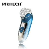 Wholesale High Quality PRITECH Waterproof Men s Shaver Trimmer With Three Safely Rotary Heads Electric Shaver EU plug