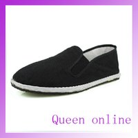Wholesale Bruce Lee Vintage Chinese Kung Fu cloth shoes Wing Chun Tai Chi Slipper Martial Art Footwear