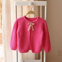 designer baby clothes - Cute Cardigan Sweaters for Girls Bset Cotton Baby Girl Cardigan Sweater with Bowknot Childrens Designer Clothes Colors