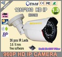appareil photo 1.3MP IP HD ONVIF P2P HD puce IP caméra de vision nocturne 1280 * 960P CMOS IR cctv ABS Caméra logiciel libre de sécurité à domicile