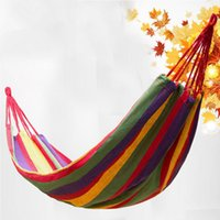 Wholesale Camping Hammock thicker canvas outdoor single double sent outside the bag tying indoor swing weighs about g
