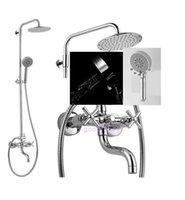 bathtub shower combo - And Retail Promotion NEW Chrome Brass Rain Round quot Shower Set Faucet Bathtub Mixer Tap Combo Shower
