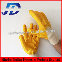 nitrile coated gloves - Safety equipment new product cotton liner knit wrist nitrile coated work gloves in china factory for free samples