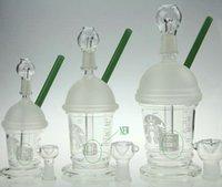 2016 Nouvelle HitMan Coupe Starbuck bong avec percolateur originale Opaque brillant verre vert dab concentré de plate-forme pétrolière bong pipe à eau en verre Hookah