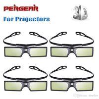 3d active shutter glasses - 4pcs Pergear G15 DLP D Active Shutter DLP Link Glasses for Optoma Sharp LG DLP Projectors P0009778 A5