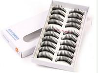 Wholesale Eyelashes Pair Thick Long False Eyelashes Eyelash Eye Lashes Voluminous Makeup