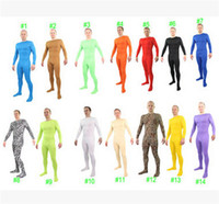 red zentai catsuit - New HOT Anime Cosplay Costumes Zentai Catsuit Costumes Men Lycra high elastic Tights Jumpsuit One pieces Colorful costumes