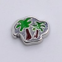 Wholesale new arrival metal lovers tree floating charms for living magnetic memory glass lockets FC243
