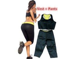 Wholesale OPP Hot Shapers Neoprene Slimming pants and vest sets Body Shapers women slimming bodysuits Hot Shaper Control Panties Set LJJD2403 set