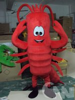 Wholesale Lobster Langouste Crawfish Mascot Costume Fancy Dress RED