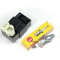 Wholesale 2015 GY6 cc cc Moped Scooter CDI Spark Plug NGK CR7HSA Performance Kit Ignition System Drop Shipping